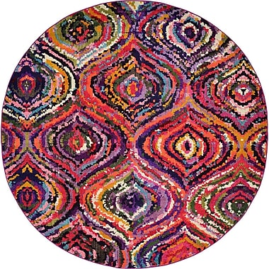 Bungalow Rose Roshan Multi Area Rug; Round 8'