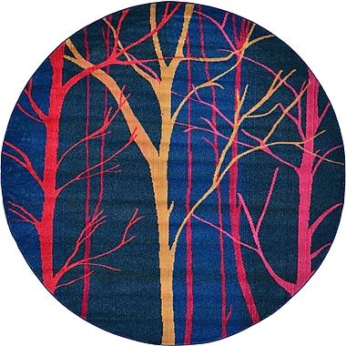 Bungalow Rose Roshan Blue Area Rug; Round 8'