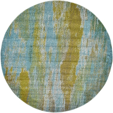 World Menagerie Killington Turquoise Area Rug; Round 6'