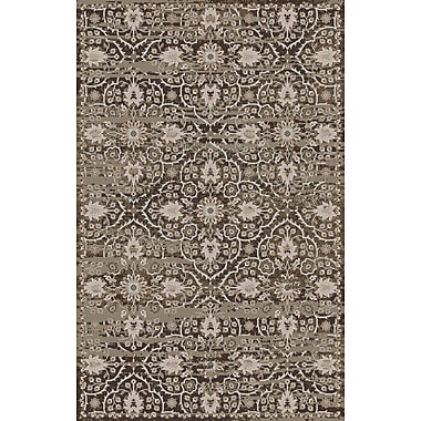 Bungalow Rose Halima Olive/Gray Area Rug; 5'6'' x 8'6''