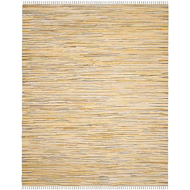 Bungalow Rose Jaylon Hand-Woven Gold Area Rug; Rectangle 3' x 5'