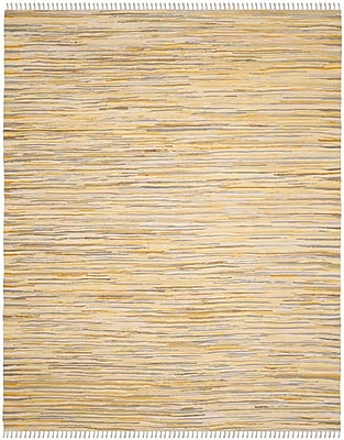 Bungalow Rose Jaylon Hand-Woven Gold Area Rug; Rectangle 4' x 6'
