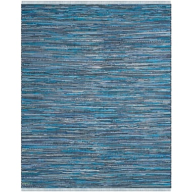 Bungalow Rose Naarden Hand-Woven Blue Area Rug; Square 6'
