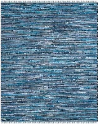 Bungalow Rose Naarden Hand-Woven Blue Area Rug; Rectangle 5' x 8'
