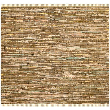 Bungalow Rose Nessadiou Hand-Woven Beige Area Rug; Square 6'