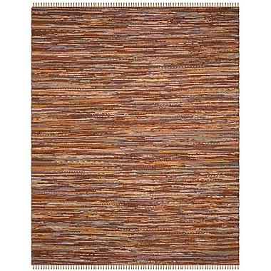 Bungalow Rose Apeldoorn Hand-Woven Brown Area Rug; 6' x 9'
