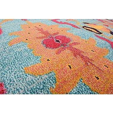 Bungalow Rose Fujii Blue/Orange Area Rug; 10'6'' x 16'5''