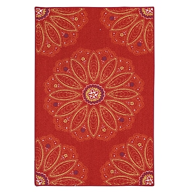 Bungalow Rose Altman Red Area Rug