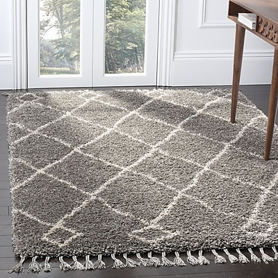 Bungalow Rose Hester Gray/Beige Area Rug; 4' x 6'
