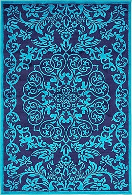 Bungalow Rose Alford Turquoise Area Rug; 5' x 8'