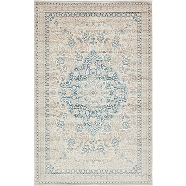 Bungalow Rose Mellal Beige Area Rug; 5' x 8'