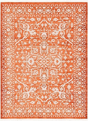 Bungalow Rose Wilton Terracotta Area Rug; 9' x 12'