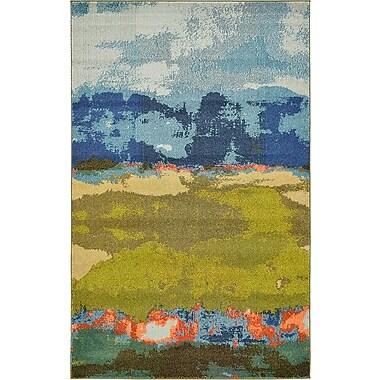 Bungalow Rose Fujii Blue Area Rug; 7' x 10'