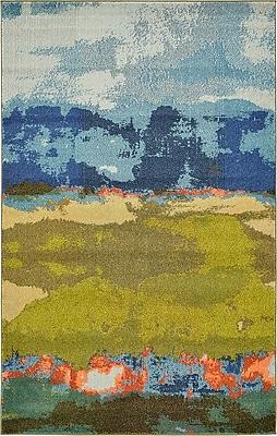 Bungalow Rose Fujii Blue Area Rug; 10'6'' x 16'5''