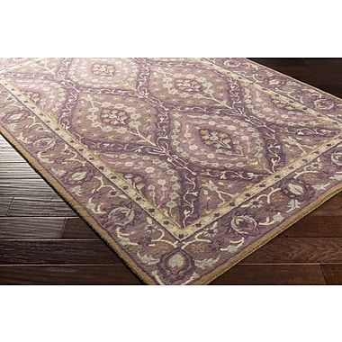 Bungalow Rose Dover Hand-Tufted Dark Purple Area Rug; 9' x 13'