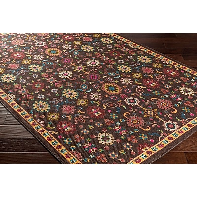 Bungalow Rose Emmie Black/Red Area Rug; 2' x 2'9''