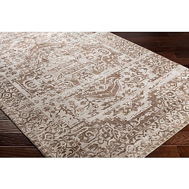 Bungalow Rose Dollie Hand-Loomed Brown/Neutral Area Rug; 2' x 3'