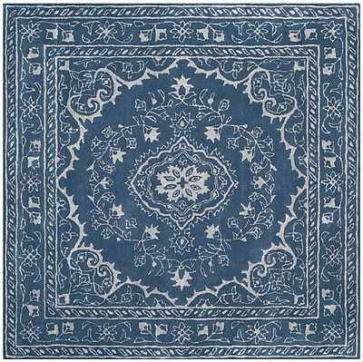 Bungalow Rose Samaniego Hand-Tufted Blue Area Rug; Rectangle 3' x 5'