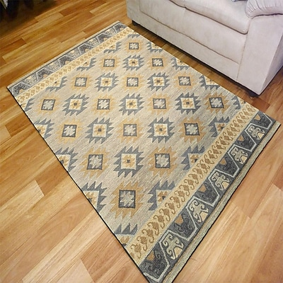 Bungalow Rose Arnhem Hand-crafted Silver Area Rug; 5' x 7'9''