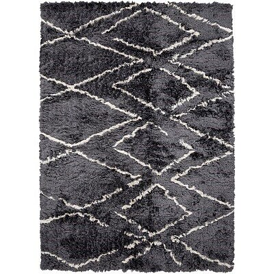 Bungalow Rose Leona Hand-Tufted Gray Area Rug