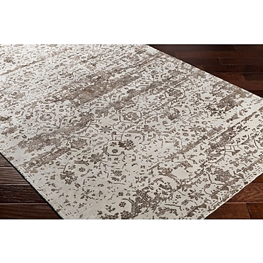 Bungalow Rose Dollie Hand-Loomed Brown/Neutral Area Rug; 5' x 7'6''