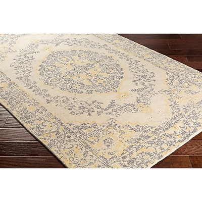 Bungalow Rose Anselma Hand-Loomed Neutral Area Rug; 5' x 7'6''
