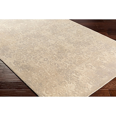 Bungalow Rose Anselma Hand-Loomed Neutral Area Rug; Rectangle 2' x 3'
