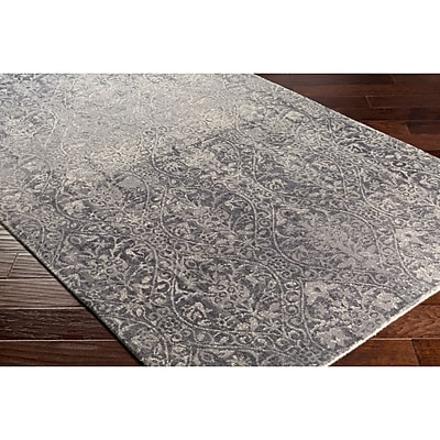 Bungalow Rose Anselma Hand-Loomed Neutral/Gray Area Rug; Rectangle 2' x 3'