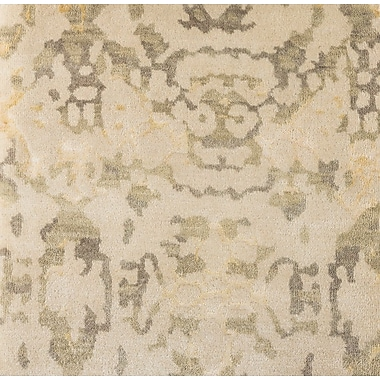 Bungalow Rose Marina Hand-Knotted Neutral/Green Area Rug; 9' x 13'