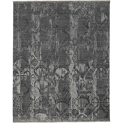 Bungalow Rose Wabe Hand-Knotted Gray Area Rug; 6' x 9'