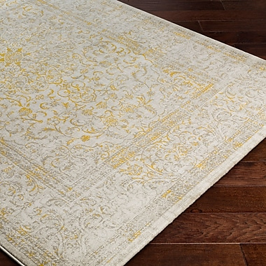 Bungalow Rose Anil Yellow / Beige Area Rug; 7'6'' x 10'6''