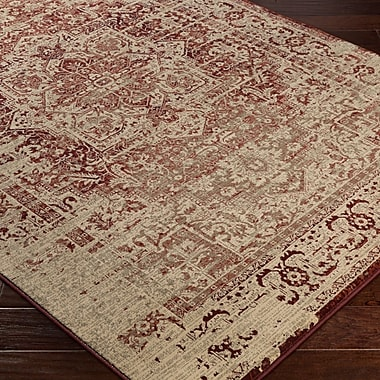 Bungalow Rose Argentine Red Area Rug; 6'7'' x 9'6''