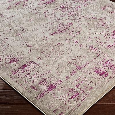 Bungalow Rose Anil Purple / Gray Area Rug; 5'2'' x 7'6''