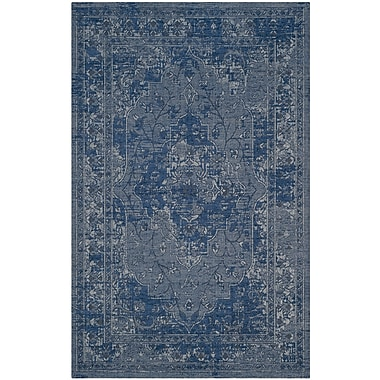 Bungalow Rose Port Laguerre Blue/Light Gray Area Rug; 2'6'' x 5'
