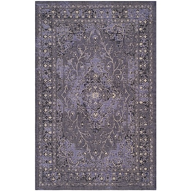 Bungalow Rose Port Laguerre Purple Area Rug; 2'6'' x 5'