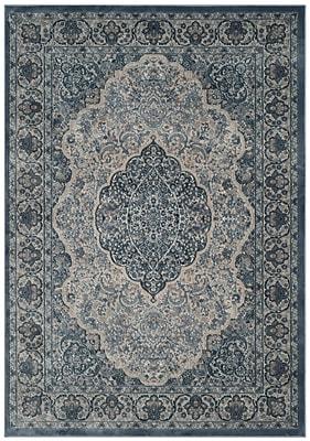Bungalow Rose Smithfield Gray/Blue Area Rug; 4' x 5'7''