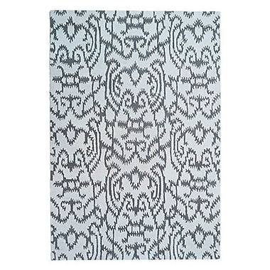 Bungalow Rose Adolphus Hand-Tufted White/Gray Area Rug; 5' x 8'