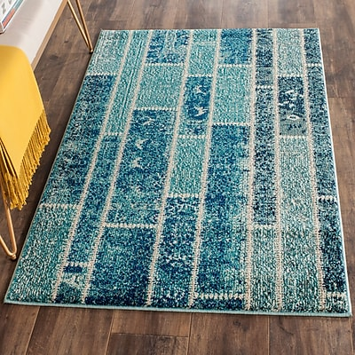 Bungalow Rose Lobardy Blue Area Rug; 4' x 5'7''