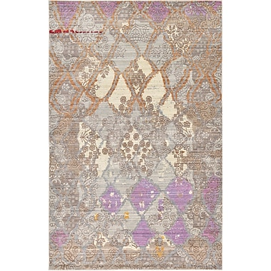 Bungalow Rose Rune Gray Area Rug; 5' x 8'