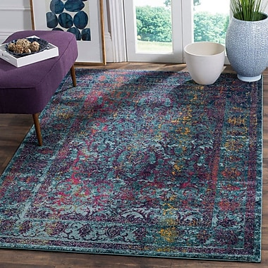 Bungalow Rose Marian Blue/Yellow Area Rug; Runner 2'2'' x 9'