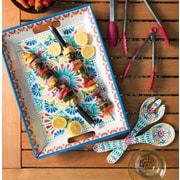 Bungalow Rose Adah Melamine Handled Serving Platter