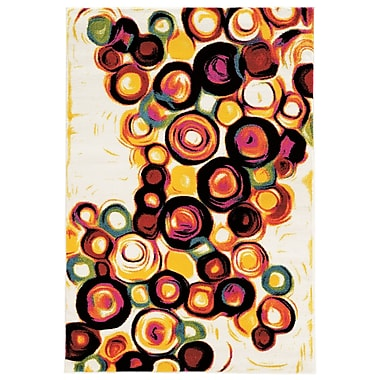 Bungalow Rose Amber White Area Rug; 8' x 10'3''