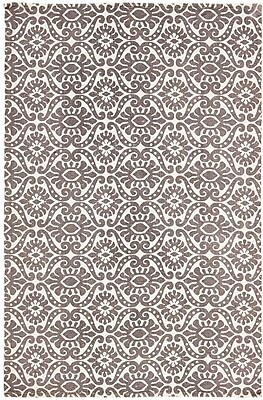 Bungalow Rose Armagh Brown/Beige Area Rug; 4' x 6'