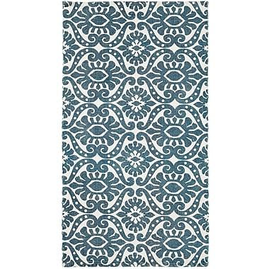 Bungalow Rose Armagh Blue Area Rug; 2'3'' x 4'