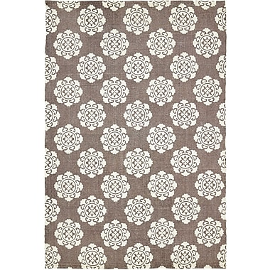 Bungalow Rose Ross Brown/Beige Area Rug; 4' x 6'