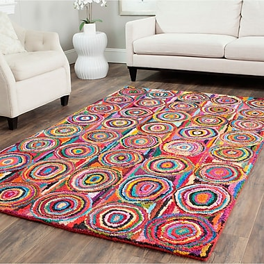 Bungalow Rose Anaheim Circle Area Rug; 5' x 8'