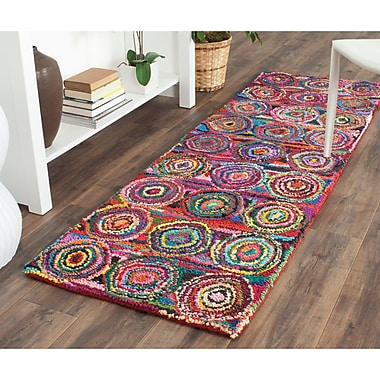 Bungalow Rose Anaheim Circle Area Rug; Runner 2'3'' x 8'
