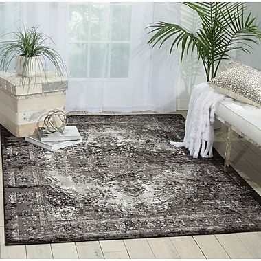 Bungalow Rose Star Black/Gray Area Rug; 5'3'' x 7'3''