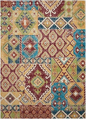 Bungalow Rose Star Red/Orange/Green Area Rug; 3'11'' x 5'11''