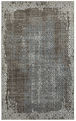 Bungalow Rose Willow City Brown/Cream Area Rug; 7'9'' x 9'10''